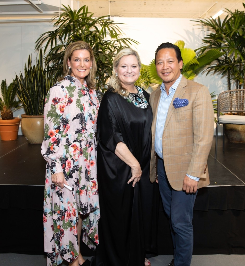 From left, Christie's senior vice president and Chicago managing director Catherine Busch, with keynote speakers Amanda Lindroth and Fernando Wong.