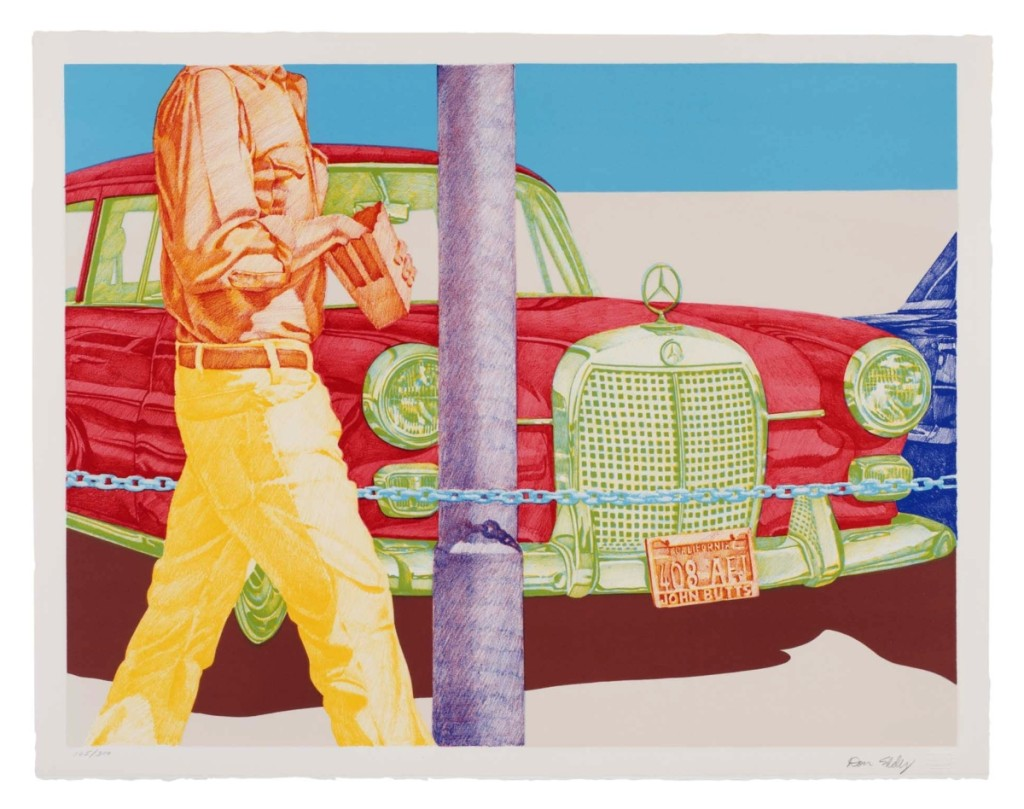 """""""Red Mercedes"""" by Don Eddy (b 1944), 1972. Color lithograph, 24-1/8 by 30-11/16 inches. Toledo Museum of Art, Frederick B. and Kate L. Shoemaker Fund, ©Don Eddy. Image Credit: Christopher Ridgway."""