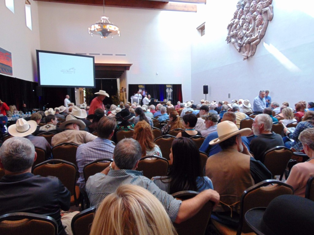 The auction hall moments before the 30th Annual Cody Wild West Auction began.