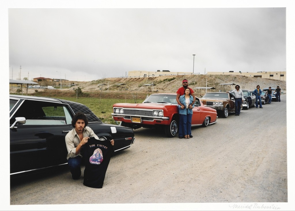 """""""Sammy Martinez and Los Unidos"""" by Meridel Rubenstein (b 1948), from The Lowriders: Portraits from New Mexico, 1980. Ektacolor 74 print, 14 by 17 inches. Purchased with the Madeleine H. Russell, class of 1937, Fund, Smith College Museum of Art, Northampton, Mass. ©Meridel Rubenstein."""