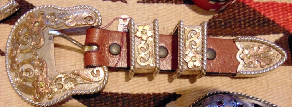 Silver, gold and diamond Ranger kit by Clint Mortenson, Mortenson Silver and Saddles, Santa Fe, $1,395.