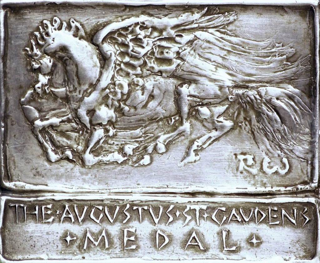 Robert W. White, Saint-Gaudens Medal, 1992. Silver, 3¾ by 4½ inches, Courtesy of Saint-Gaudens Memorial.