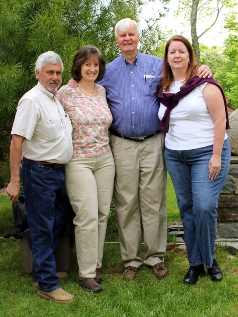 Lew Scranton, center, with his daughters, Abigail and Rebecca, left and right, and son-in-law Carmine Patrizio.