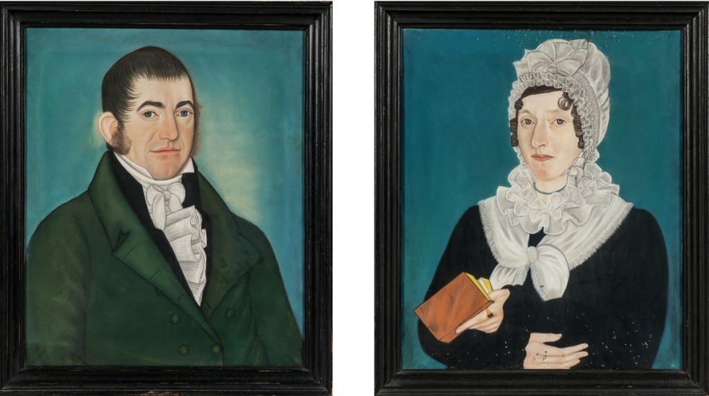 Winding up as the second highest priced lot of the sale was an unsigned pair of pastel-on-paper portraits of unidentified sitters by Micah Williams. The sitters were well-dressed, and the pair of paintings finished at $46,125.