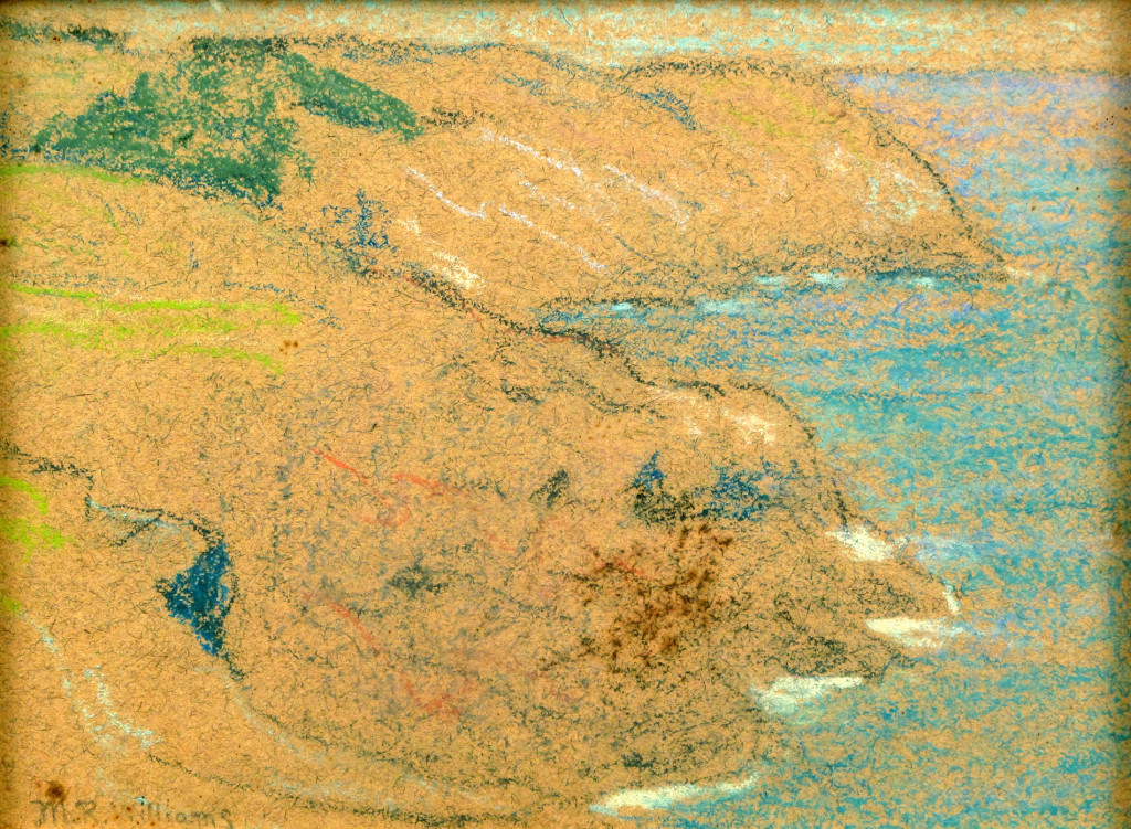 Monhegan Island in Maine inspired some of Mary's loosest artworks during a 1903 trip. Pastel, 4¼ by 5¾ inches. Private collection, Ted Hendrickson photo.