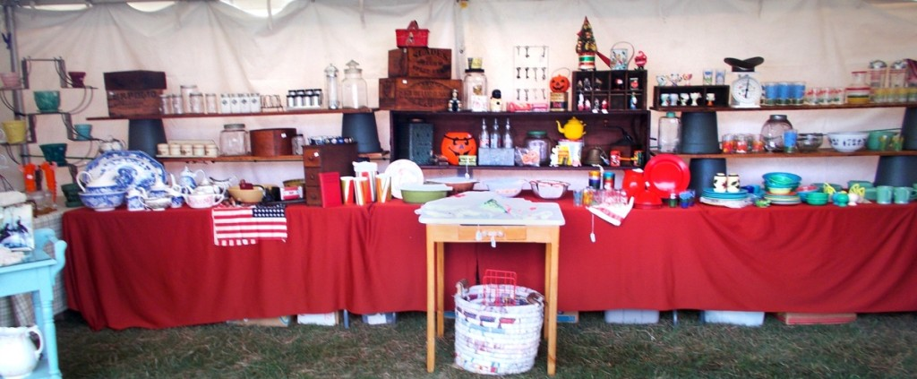 Wanita Paolino, Johnston, N.Y., is a dealer of kitchenalia from the very late Nineteenth and early Twentieth Centuries.                    —Brimfield Auction Acres