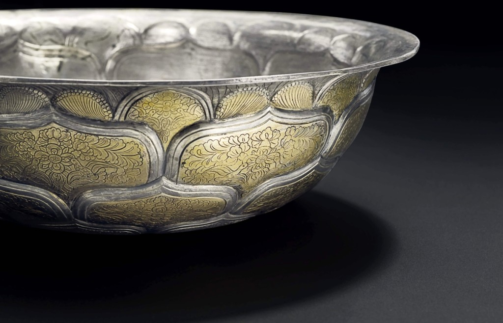 The top lot of the week was a rare and large parcel-gilt silver bowl, Tang dynasty, which realized $3,495,000 and set the world auction record for a Chinese silver work of art.