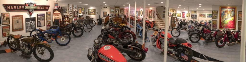 Overview of McGraw private motorcycle collection.
