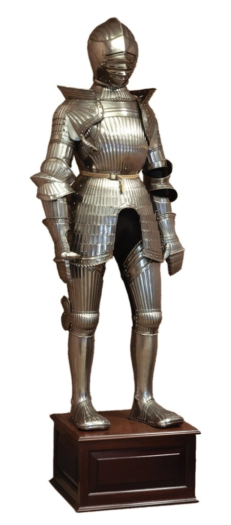 The top result from the Peter Tillou collection came with this Maximillian suit of armor that brought $47,200. It was done in the Sixteenth Century style and had provenance to arms and armor dealer Peter Finer.