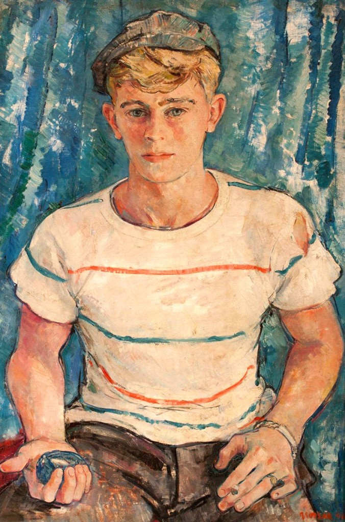 """""""Portrait of a Young Man"""" by Maurice Grosser earned $7,930 and was one of the higher priced items in the sale. Grosser was known for his portraits, and his works are in several museum collections, including the Museum of Modern Art."""