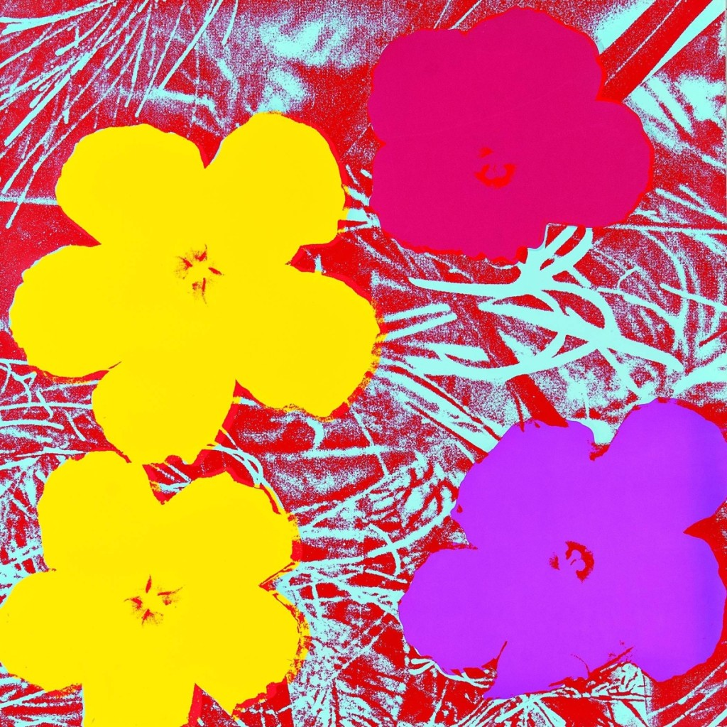 "Andy Warhol's (1928-1987) ""Flowers,"" 1970, bringing $43,050, was another top highlight of the prints session."