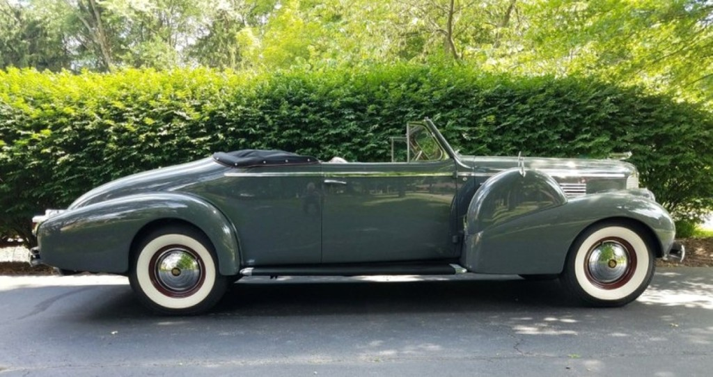 Vintage cars were led by this 1938 Cadillac Series 75 Fleetwood convertible that drew bids to $187,500.