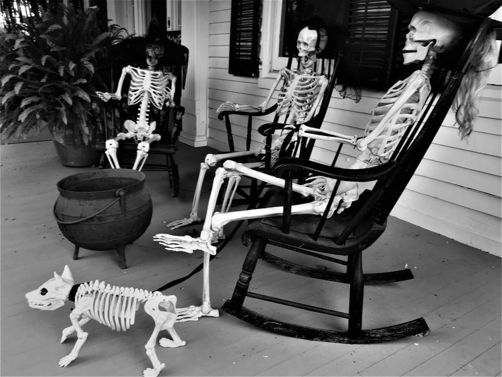 Skeletons on the Porch, Tom Edmonds photo, 2018.