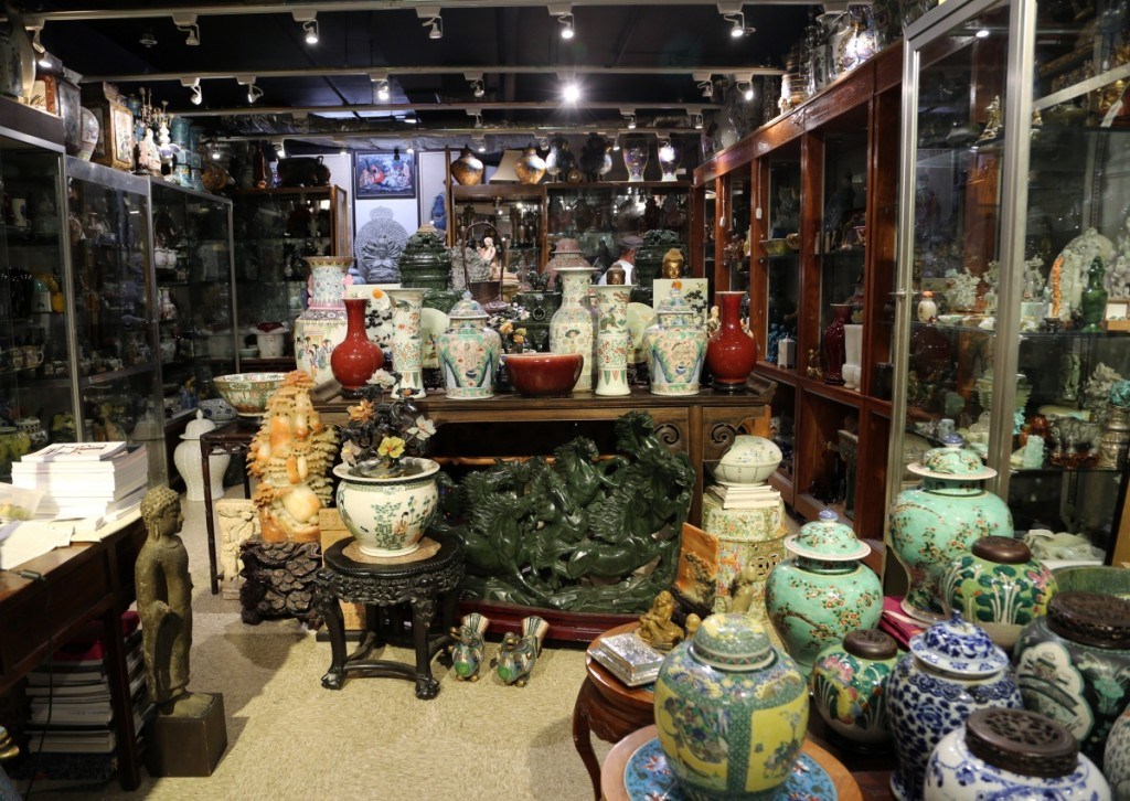 Angela & J. Gallery was well stocked with Chinese antiques of every form and medium.