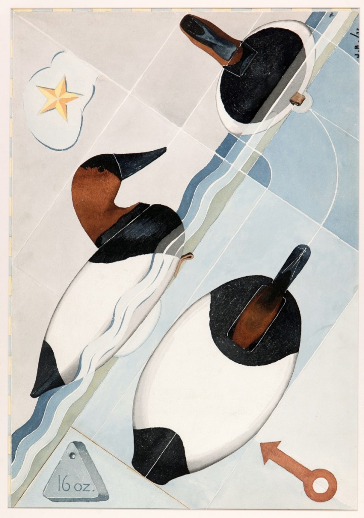 """""""Canvasbacks"""" by Joel D. Barber, 1932. Watercolor on paper, 25¼ by 17-  inches. Collection of Shelburne Museum. Image courtesy Shelburne Museum."""