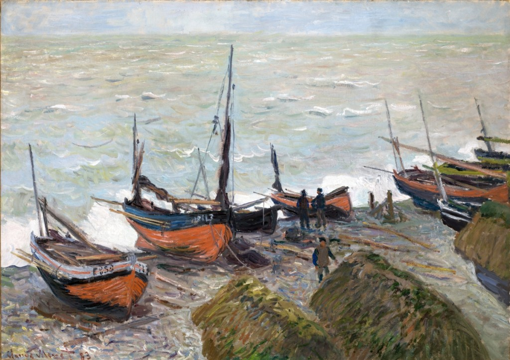 """""""Fishing Boats"""" by Claude Monet, 1883. Oil on canvas, 25¾ by 36½ inches. Denver Art Museum, Frederic C. Hamilton Collection, bequeathed to the Denver Art Museum, 37.2017."""