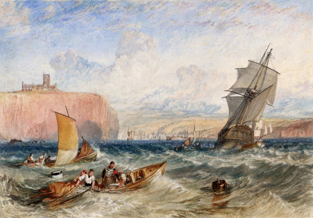 """""""Whitby"""" by J.M.W. Turner, circa 1824. Watercolor on paper."""