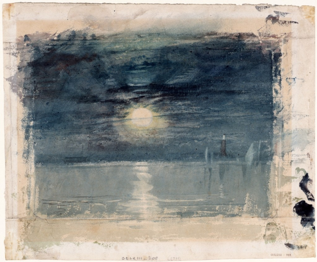 """""""Shields Lighthouse"""" by J.M.W. Turner, circa 1823-26. Watercolor on paper."""