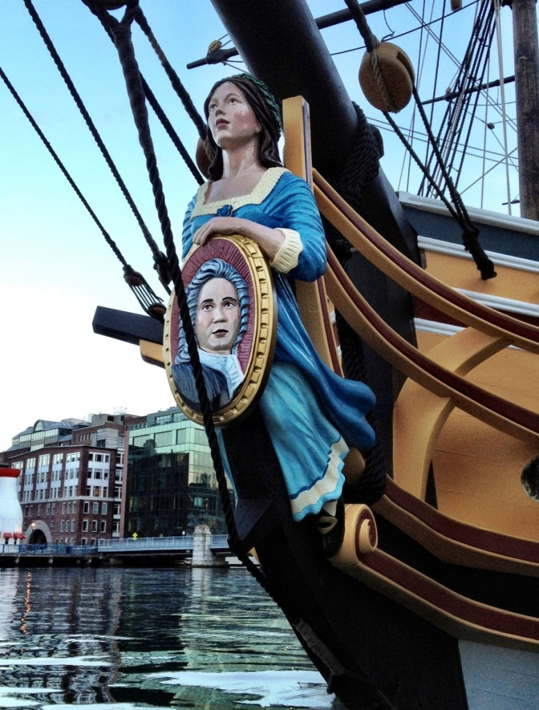 Life-size figurehead of John Rowe's niece on the ship Eleanor carved by Anderson.
