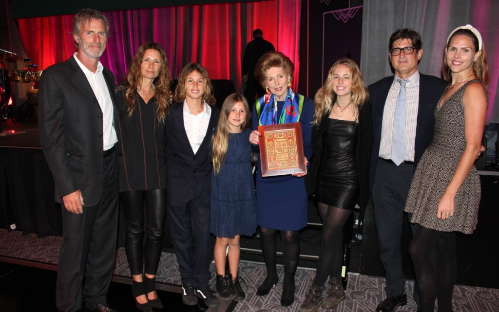 For honoree Audrey Heckler, center, it was a family affair as children and grandkids joined her off-stage.