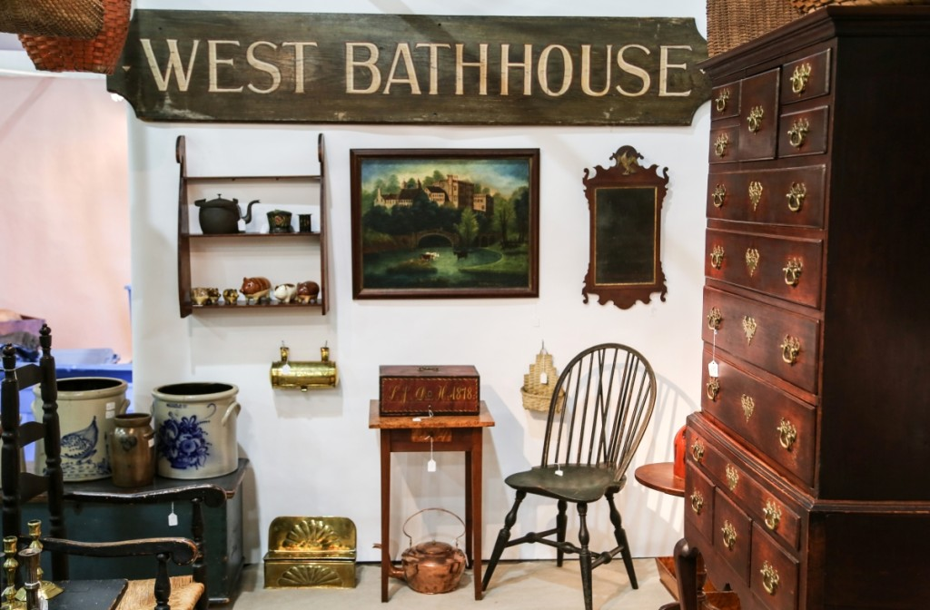 Daniel and Karen Olson, Newburgh, N.Y., featured this West Bathhouse sign, which came from Jones Beach, Long Island, N.Y.