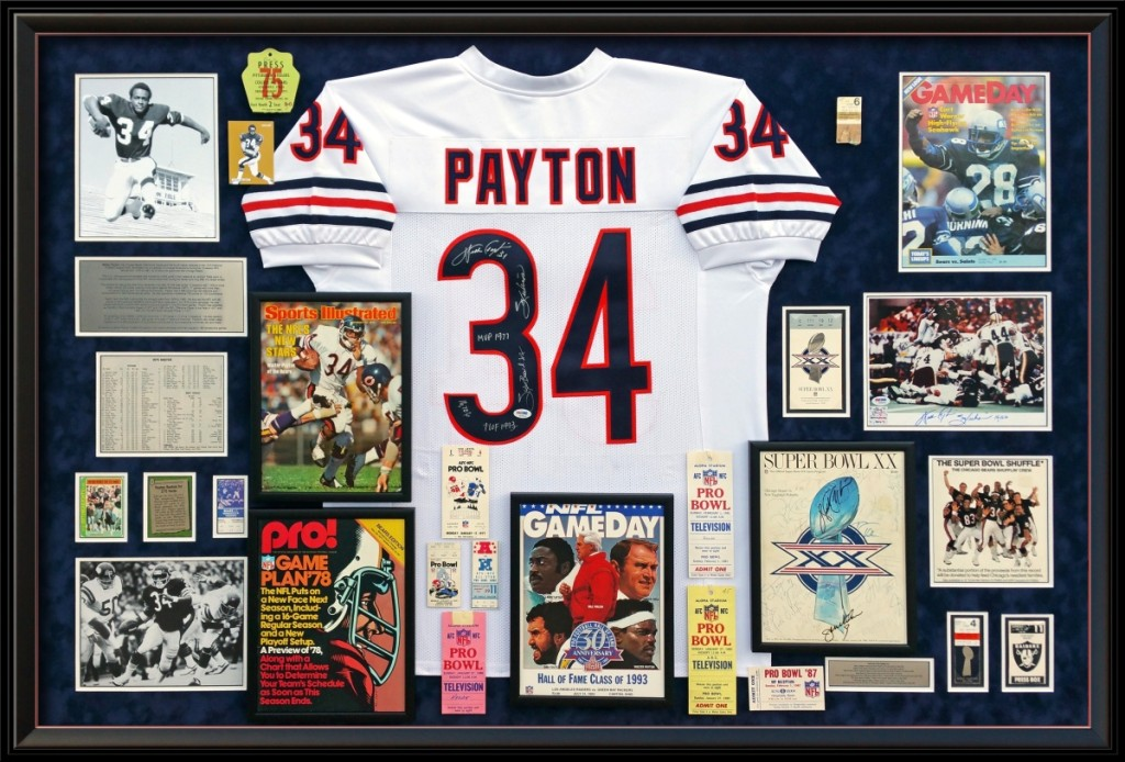 Walter Payton's illustrious career, New York collection.