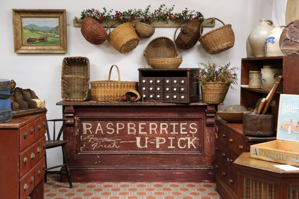 A raspberry farmstand counter was on offer from Western Reserve Antiques, Canfield, Ohio.