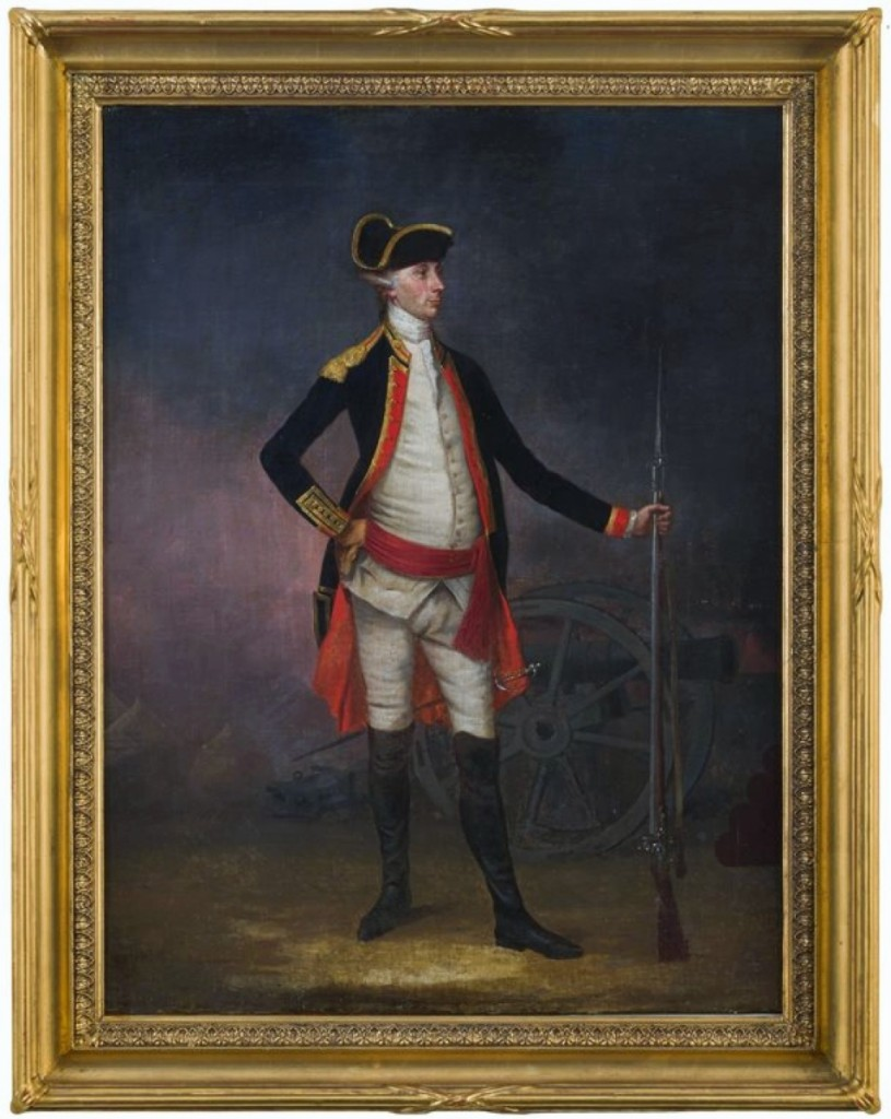 This newly discovered William Williams portrait of a colonial artillery officer was the sale's top lot at $66,000. It was perhaps also the most notable of the deaccessioned pieces in the sale, painted in 1772 by Williams — a discovery made by Kochan during the process of researching the work in preparation for the sale.