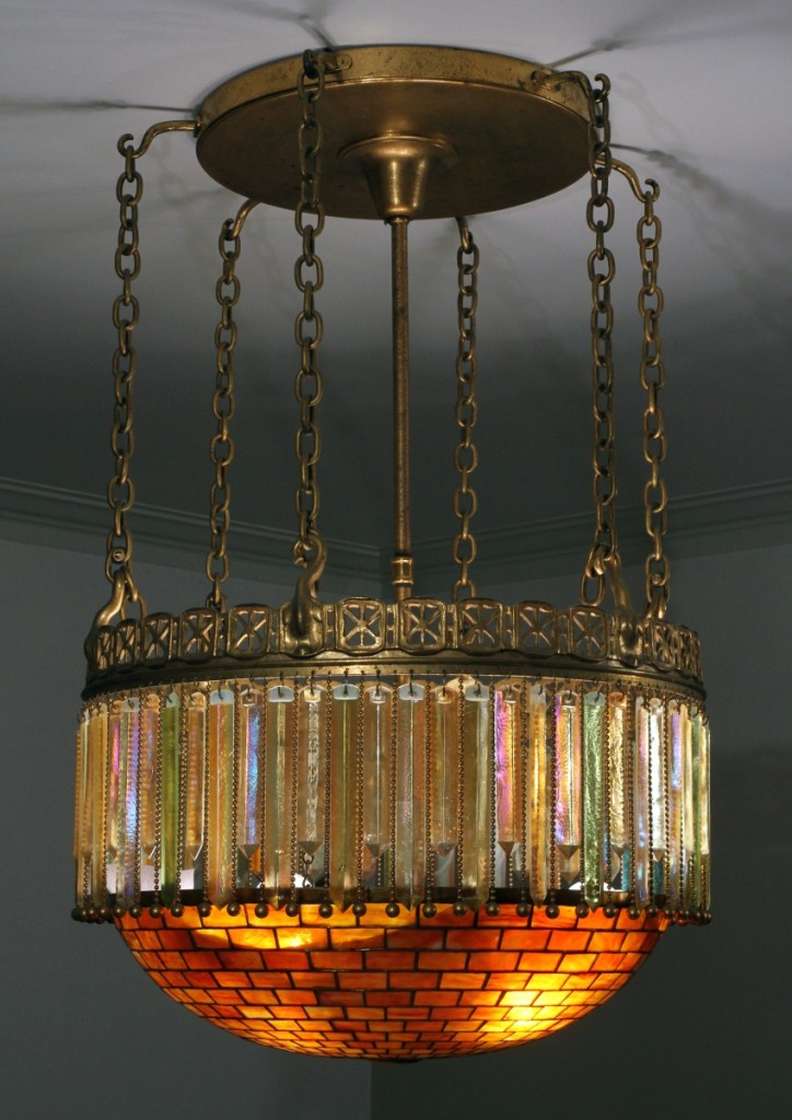 With provenance to the Dodge family, this Tiffany Studios bronze and leaded glass Moorish-style chandelier more than tripled its high $50,000 estimate when it sold at $165,100.