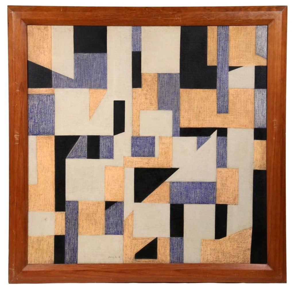 Tying for the highest priced item in the sale was a geometric abstract painting by Dutch artist Chris Hendrick Beekman. It earned $29,500.