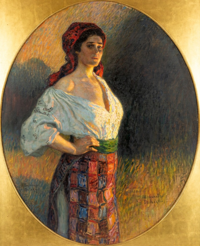 "The second highest lot in the sale was ""A Young Sorceress"" by Russian artist Nikolai Bogdanov-Belsky (1868-1945), oil on canvas, 49-  by 44-  inches,which took $156,250."