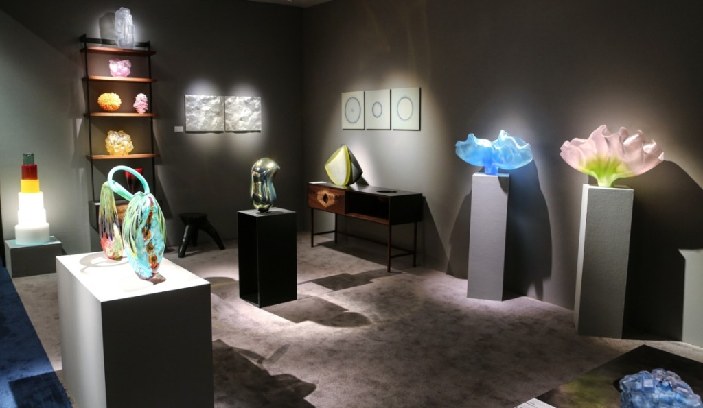 New York City's Heller Gallery brought glass works from Steffen Dam, Toots Zynsky, Lino Tagliapietra, Eric Rosenfeld and more.