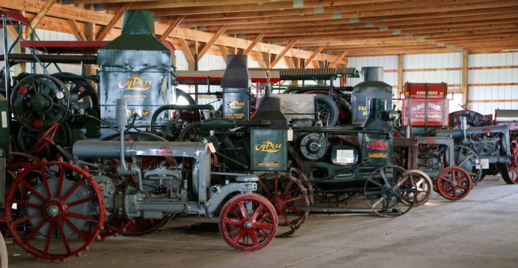 Diebold's collection of tractors is sprawled out under four barns on the Toplands Farm property.   His examples include folk-made tractors from the dawn of their invention and on to early production examples. Many feature different setups and engines. The tractors hail from all over the United States and even include some that helped build major infrastructure projects in Connecticut.