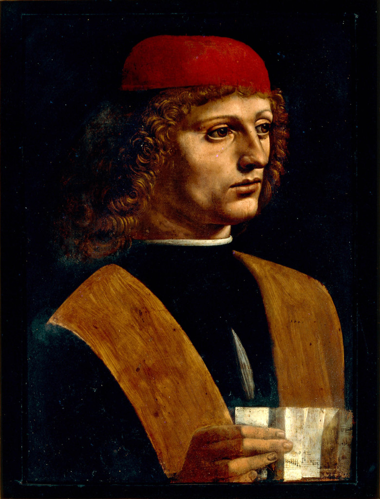 """Portrait of a Young Man Holding Sheet Music"" by Leonardo da Vinci. ©Veneranda Biblioteca Ambrosiana."