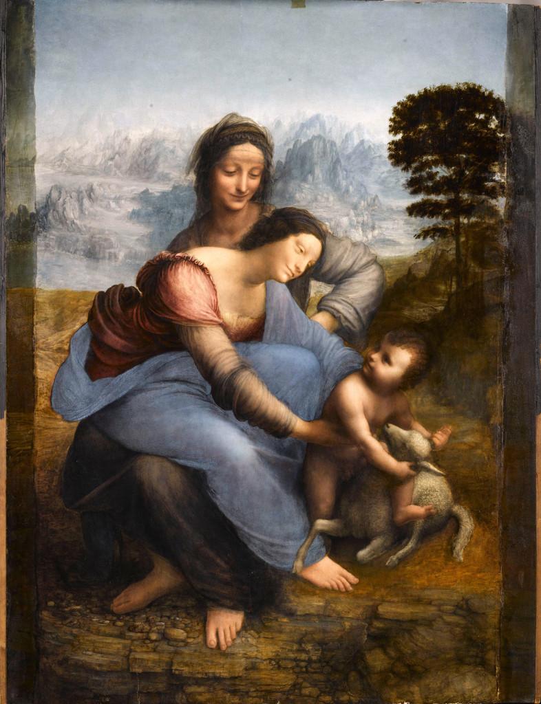 """St Anne, the Virgin, and the Christ Child, called 'St Anne'"" by Leonardo da Vinci. ©RMN-Grand Palais (Musée du Louvre). —René-Gabriel Ojéda photo"