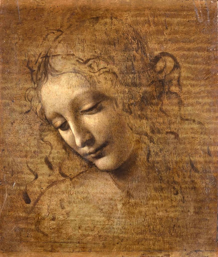 """""""Head of a Woman, called 'La Scapigliata'"""" by Leonardo da Vinci.  Licensed by Ministero dei Beni e delle Attività culturali — Complesso Monumentale della Pilotta-Galleria."""