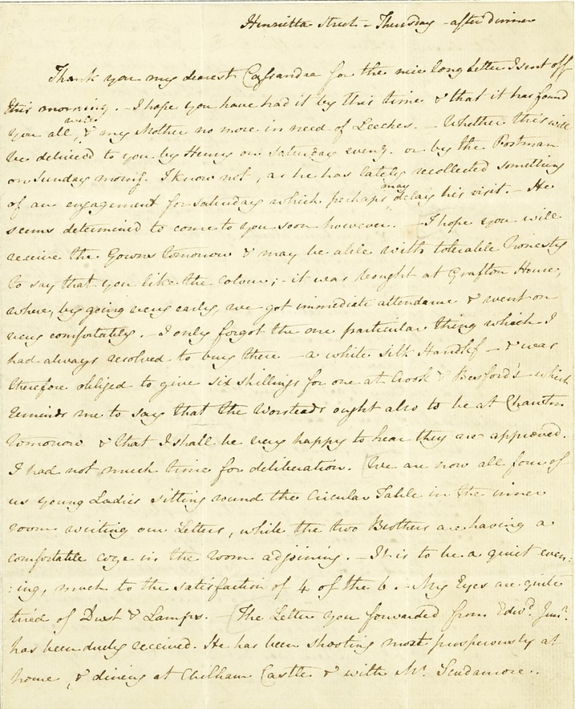 AB Bonhams Austen Letter