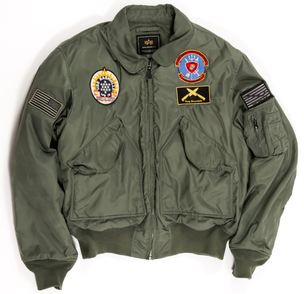 A US Navy jacket from the USS Nashville with a Tony Bourdain patch went to $171,150. Given to Bourdain by the crew of the vessel that extracted him and his crew from war-torn Beirut.