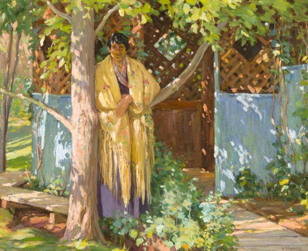 Untitled (New Mexico Portrait) by Joseph Henry Sharp (1859-1953), oil on canvas, $40,950.