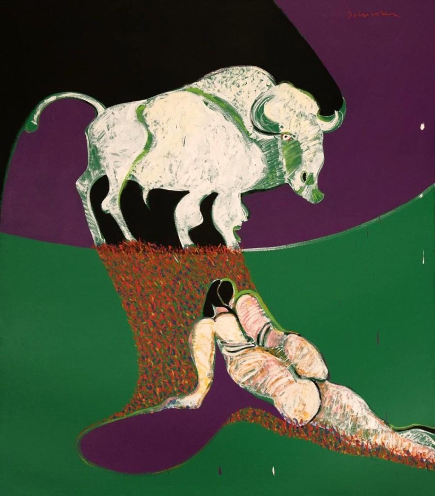Untitled (Buffalo Spirit) by Fritz Scholder (1937-2005), acrylic on canvas, $146,250.