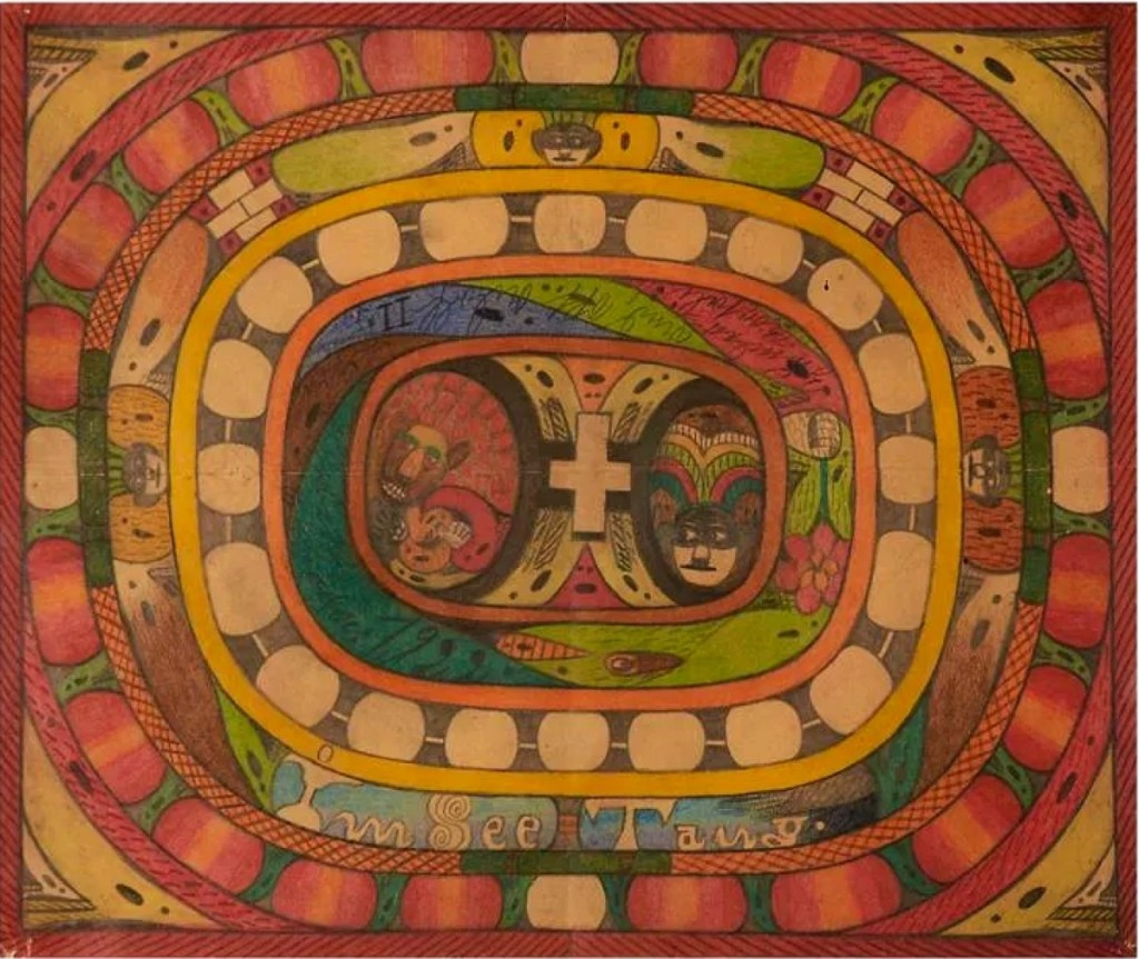 The top lot of the sale was Adolf Wölfli's 1922 untitled work, colored pencil and pencil on paper, 16½ by 13¾ inches, that finished at $27,500. Wölfli's work was lauded by Jean Debuffet in his art brut manifesto and collection.