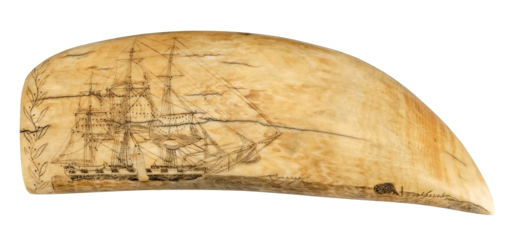 The current world record for a scrimshaw whale's tooth is $456,000 for one by Edward Burdett. This tooth was also carved by Burdett and closely relates to the record holder but failed to sell, even with an estimate of $200/300,000.