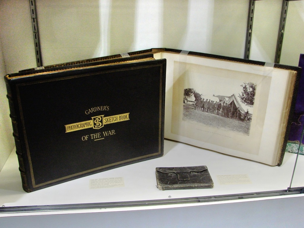 Arguably, one of the most important books to come out of the Civil War was Gardner's Photographic Sketch Book of The War, published in 1866. In two volumes, it contains 100 large albumen photographs by Alexander Gardner. Each is preceded by a page of text, and each photo is mounted on a larger sheet of paper, each with a lithographed border. Phillip J. Pirages Fine Books and Manuscripts, McMinnville, Ore., priced the set at $125,000.   —Boston International Antiquarian Book Fair