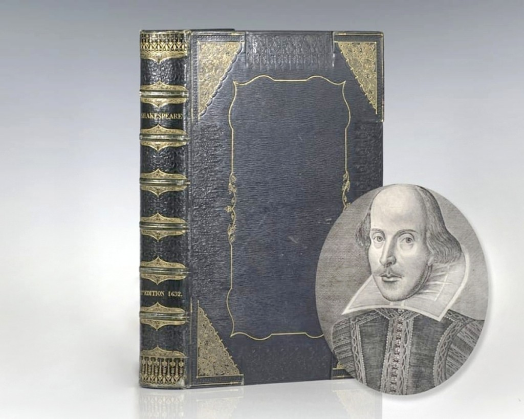 Published in 1616, after Shakespeare's death, was a 1632 copy of the first issue of Shakespeare's second folio, Mr William Shakespeare's Comedies, Histories, and Tragedies. It was perhaps one of the rarest volumes at the show and was priced at $500,000.   —Boston International Antiquarian Book Fair