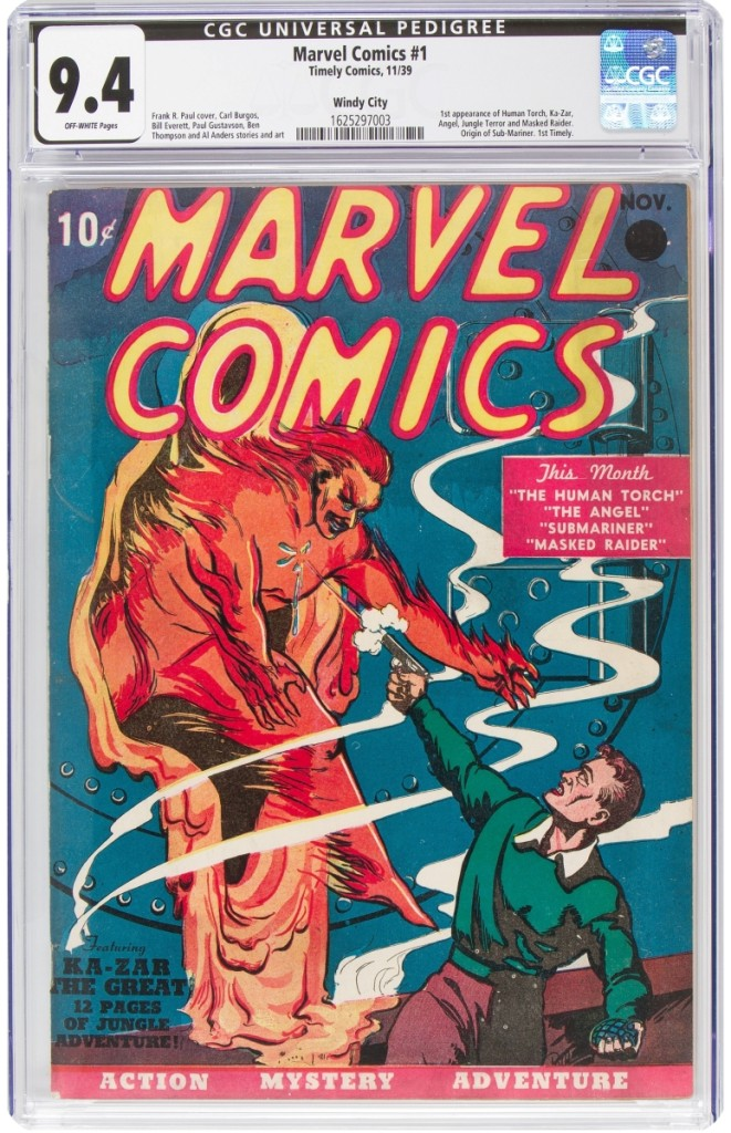 Heritage Most Expensive Marvel Comics Book