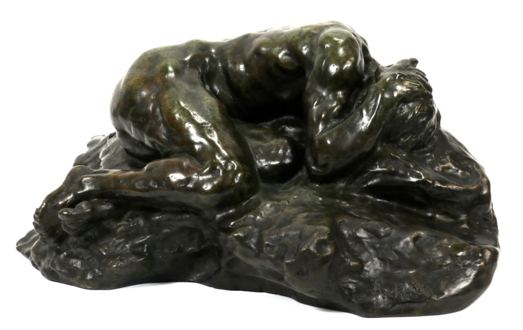 "A Michigan collector paid $21,080 for Auguste Rodin's ""Le Déspéré,"" which also came from the Schweizer collection ($10/20,000)."