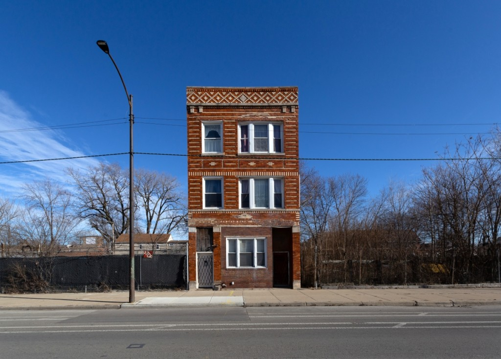One of Quam's latest   discoveries includes this 1915 three-story building on the Southwest Side, which was built for $7,000 at the time. He points out the pattern and design between the orange glaze brick and the accents of white buff brick.   Courtesy Instagram