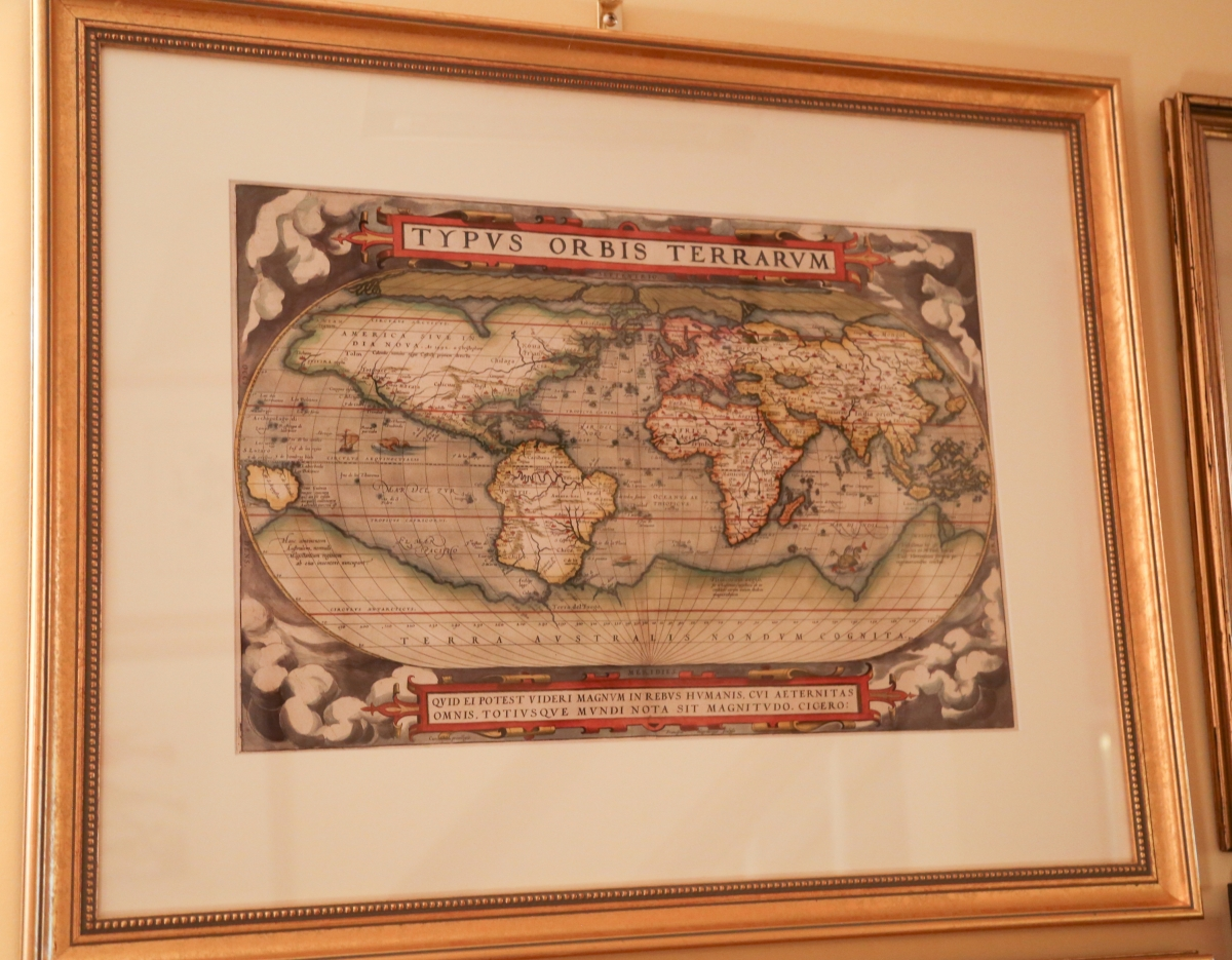 Theatrum Orbis Terrarum is considered to be one of the first modern atlases, published in 1570 by Gilles Coppens de Diest at Antwerp with 53 maps created by Abraham Ortelius.
