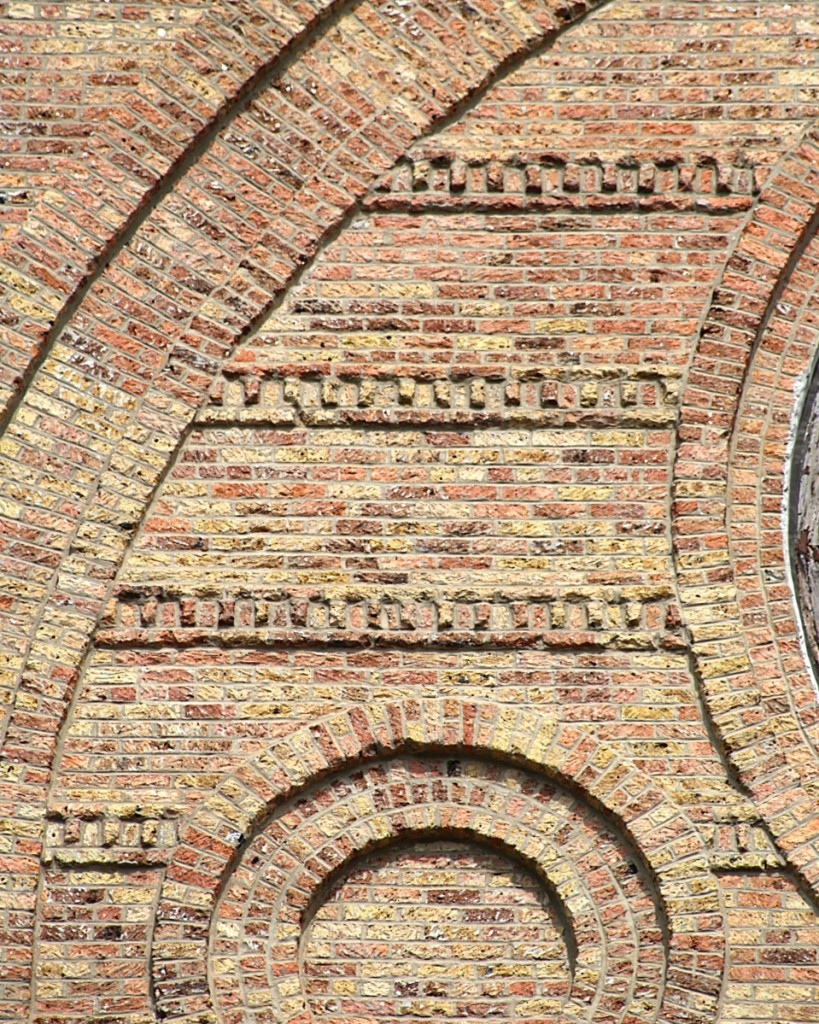 A detail from St Stanislaus Kostka, an 1881 Polish Catholic church built of Chicago common brick. Courtesy Instagram