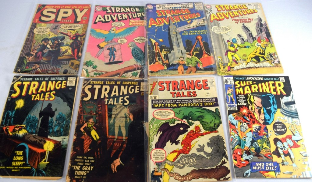 There were close to 60 lots of comic books, organized alphabetically. The highest priced lot of the selection was realized by a group of 12 that included three Strange Adventures and other books beginning with the letter S. The lot sold for $1,380. White's does not grade comic books, so prospective bidders had to personally examine the material.